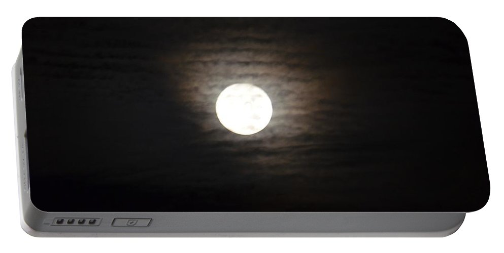Before The Harvest Moon Portable Battery Charger featuring the photograph Before The Harvest Moon by Maria Urso