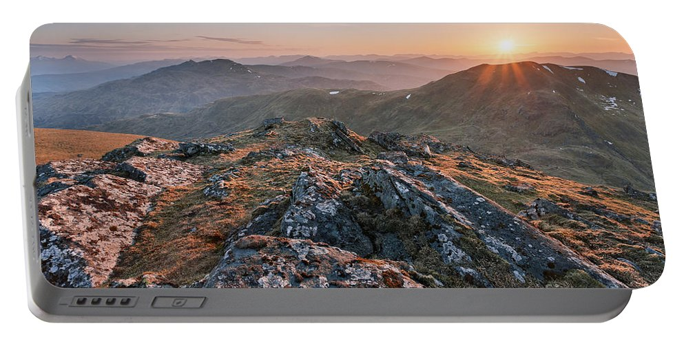 Beinn Ghlas Portable Battery Charger featuring the photograph Sunset From Beinn Ghlas - Scotland by Rod McLean