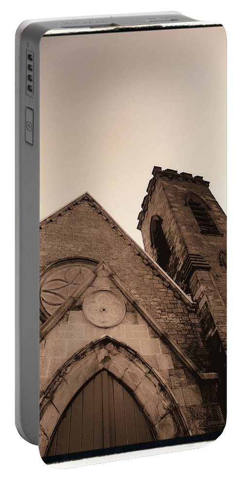 New York Portable Battery Charger featuring the photograph Bell Tower by Donna Blackhall