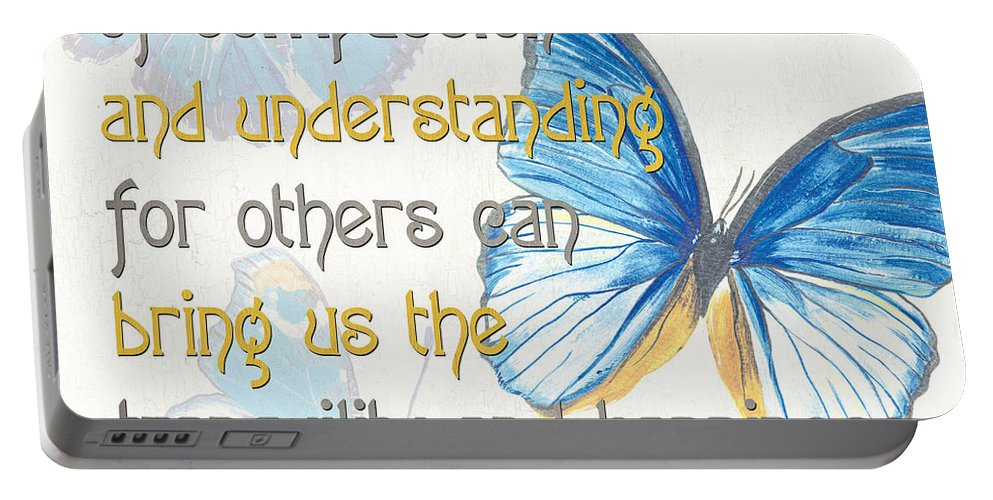 Type Portable Battery Charger featuring the painting Bella Butterflies 1 by Debbie DeWitt
