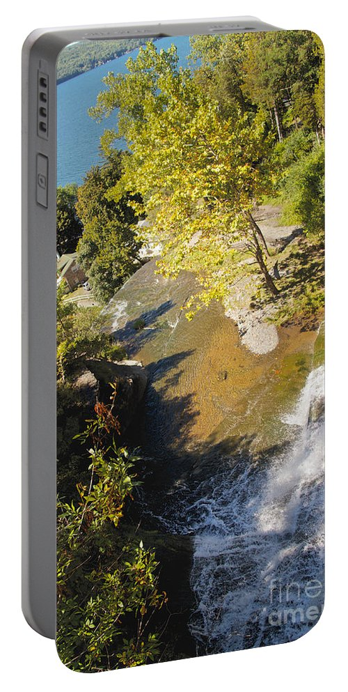 Water Portable Battery Charger featuring the photograph Below The Ledge by William Norton