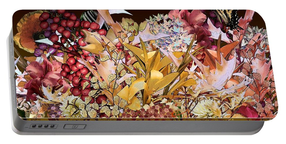 Flowers Portable Battery Charger featuring the digital art Below The Line by Paul Gentille