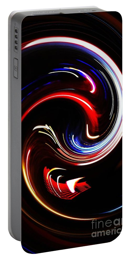 Abstract Portable Battery Charger featuring the digital art Bending Light by Sarah Loft