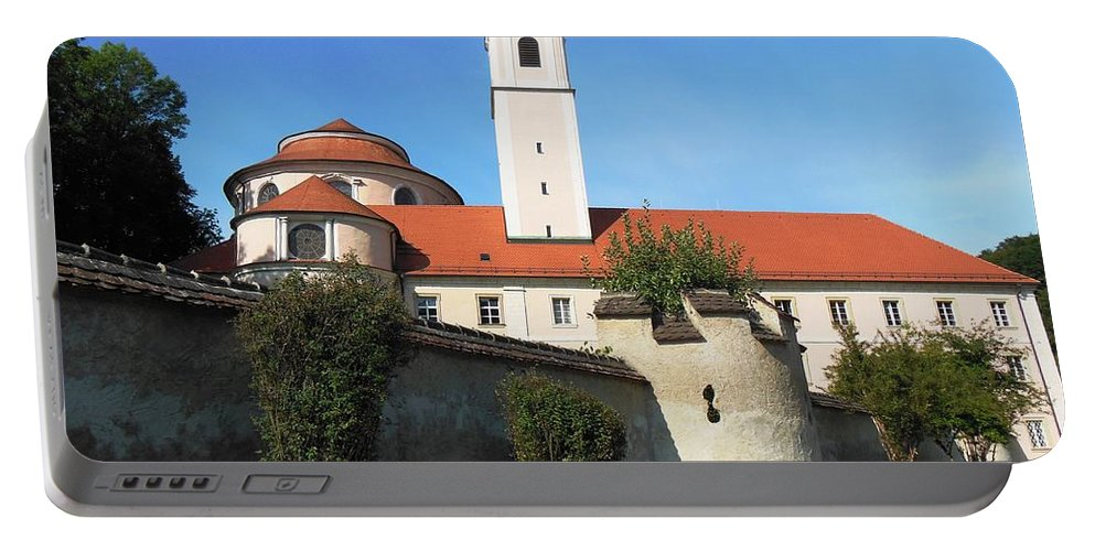 Melk Portable Battery Charger featuring the photograph Benedictine Abbey by Lisa Kilby