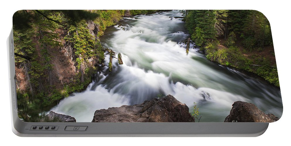 Benham Falls Portable Battery Charger featuring the photograph Benham Falls - Oregon by Yefim Bam
