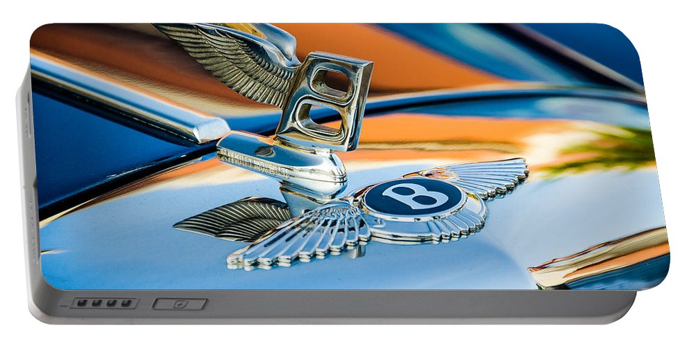 Bentley Portable Battery Charger featuring the photograph Bentley Hood Ornament by James Gamble