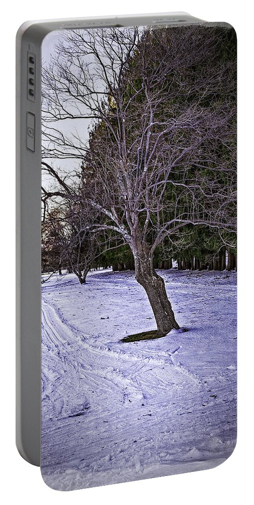 Berkshires Portable Battery Charger featuring the photograph Berkshires Winter 2 - Massachusetts by Madeline Ellis