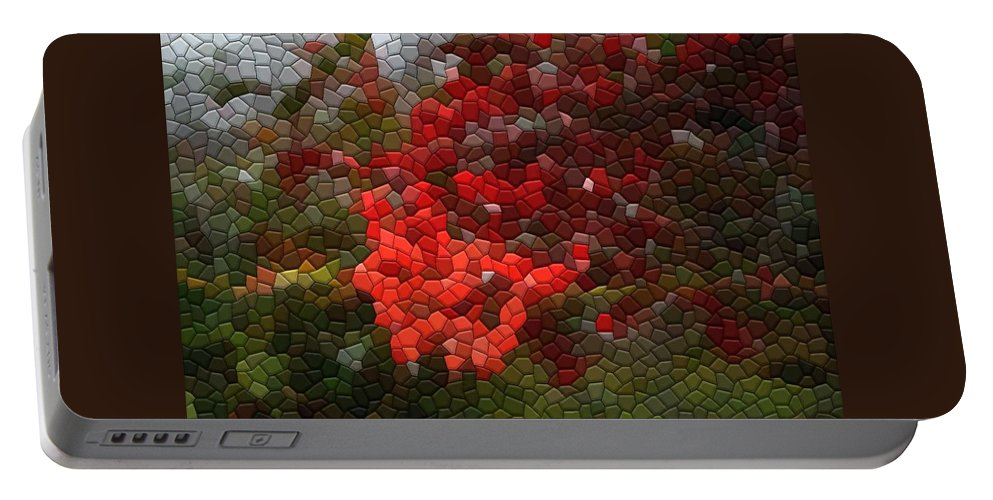 Mosaic Portable Battery Charger featuring the photograph Berry Accidental by Kathryn Meyer