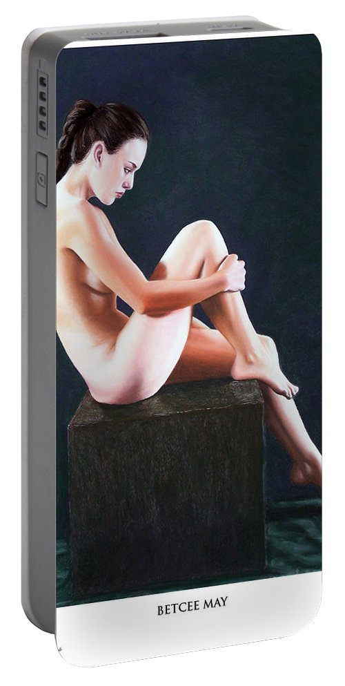 Joseph Ogle Portable Battery Charger featuring the painting Betcee May Prints Only by Joseph Ogle