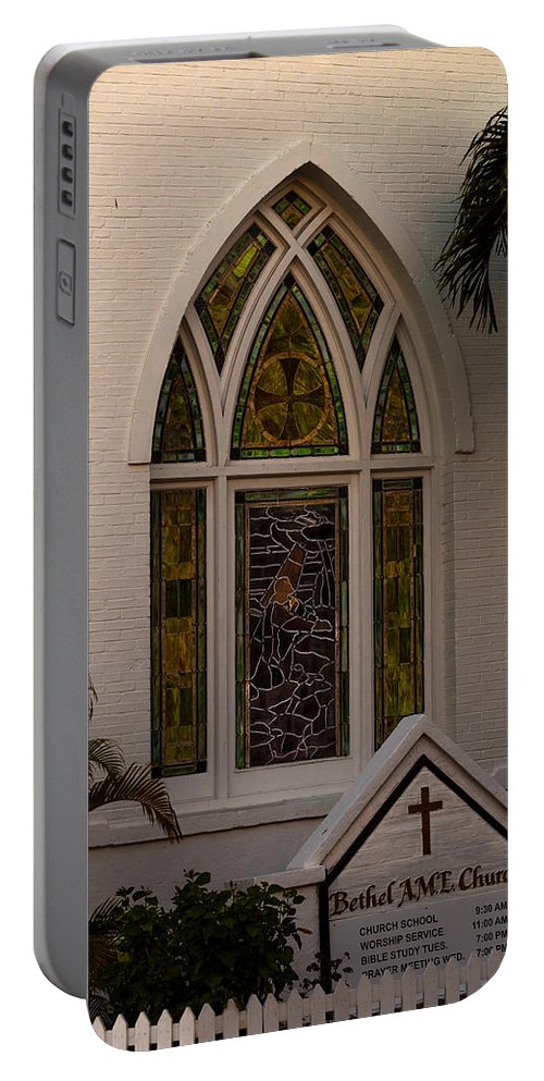 Ame Church Portable Battery Charger featuring the photograph Bethel A M E Key West by Ed Gleichman