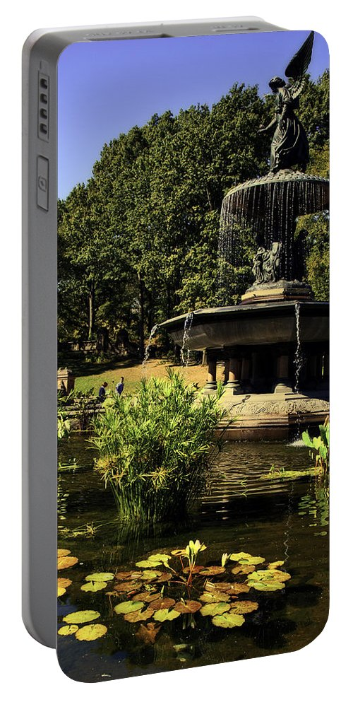 Bethesda Fountain Portable Battery Charger featuring the photograph Bethesda Fountain - Central Park 2 by Madeline Ellis