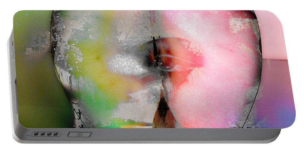 Apple Portable Battery Charger featuring the photograph Between My Apples by The Artist Project
