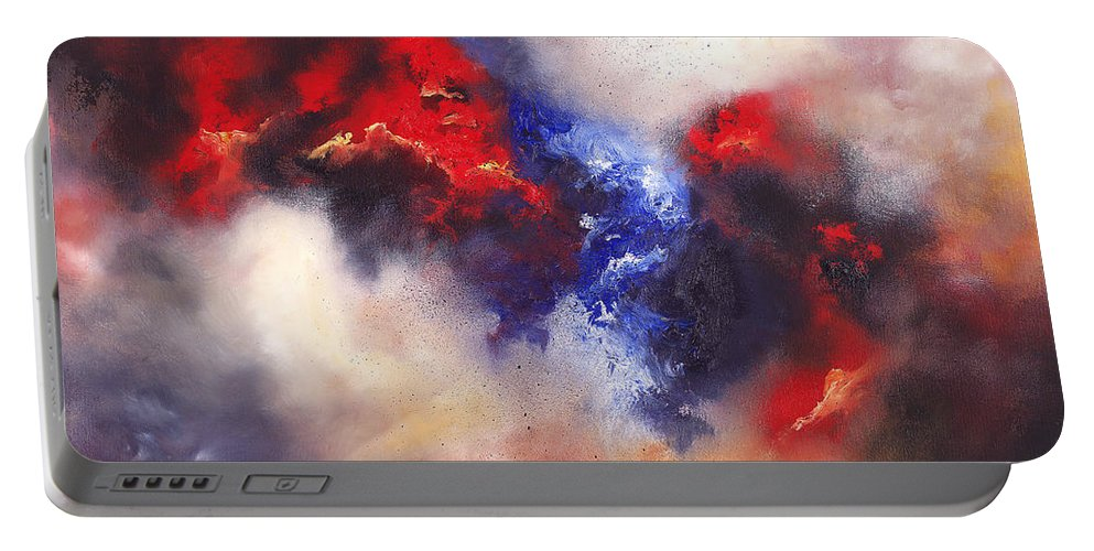 Oil Portable Battery Charger featuring the painting Beyond by Christopher Lyter