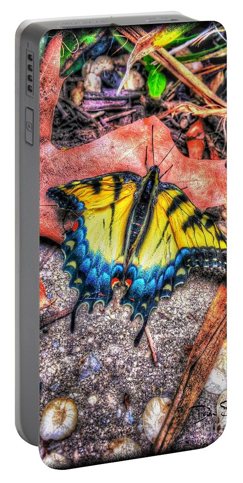 Butterfly Portable Battery Charger featuring the photograph Beyond Chrysalis-tiger Swallowtail by Dan Stone