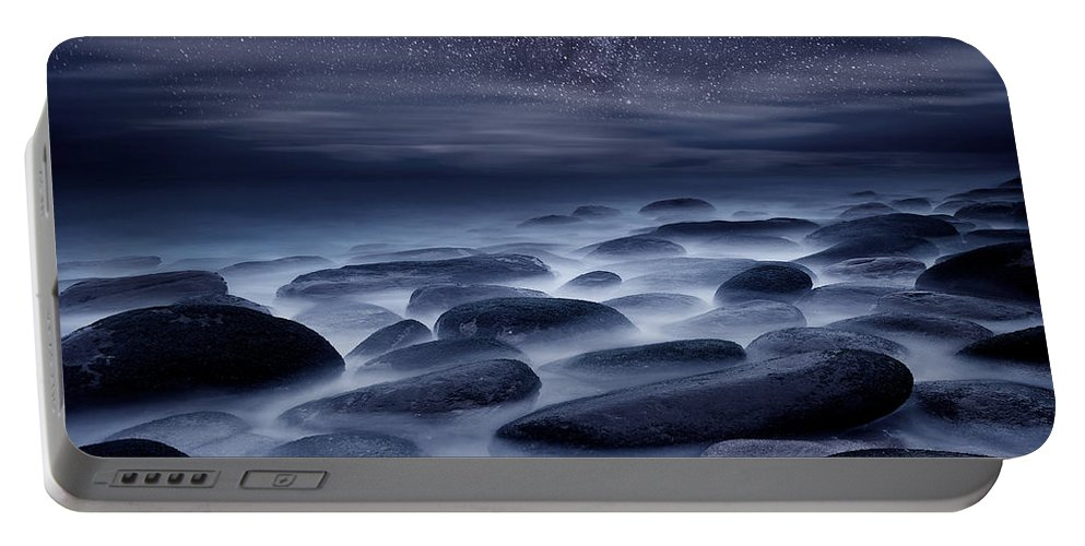 Night Portable Battery Charger featuring the photograph Beyond our Imagination by Jorge Maia