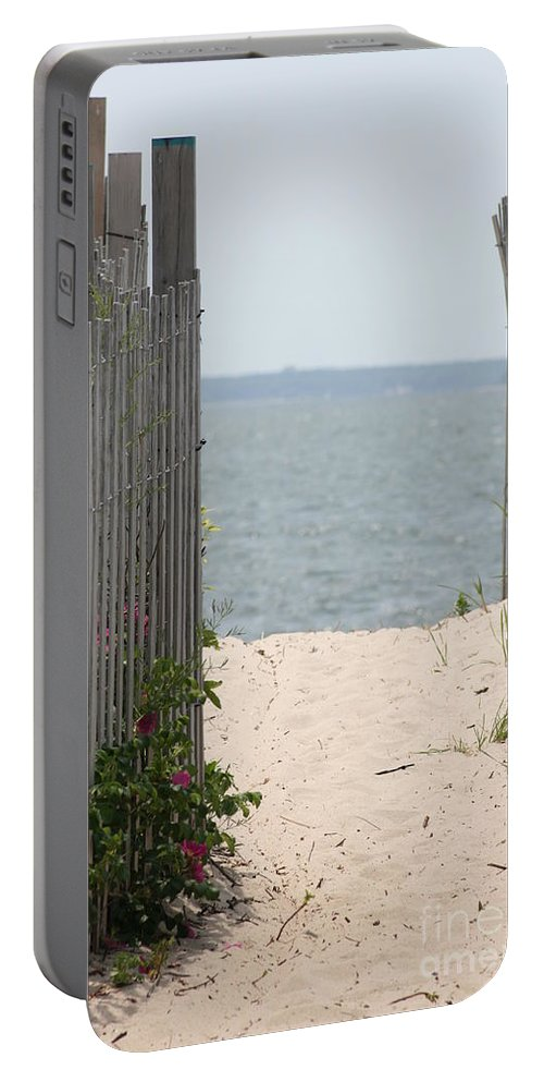 Barbara Bardzik Portable Battery Charger featuring the photograph Beyond The Dunes by Barbara Bardzik