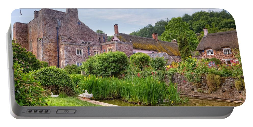 Bickleigh Portable Battery Charger featuring the photograph Bickleigh Castle - Devon by Joana Kruse
