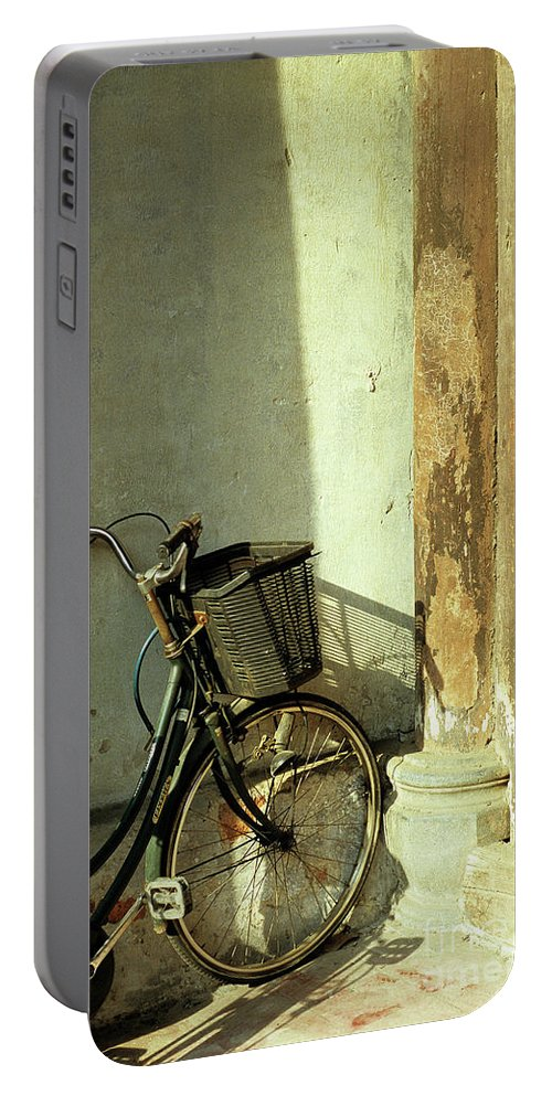 Vietnam Portable Battery Charger featuring the photograph Bicycle 02 by Rick Piper Photography