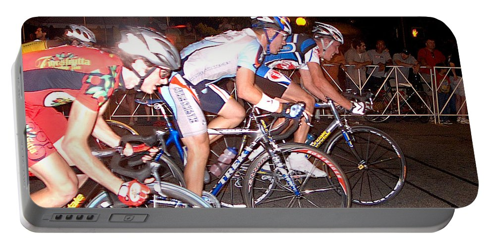 Bicycle Portable Battery Charger featuring the photograph Bicycle Race By Jan Marvin by Jan Marvin