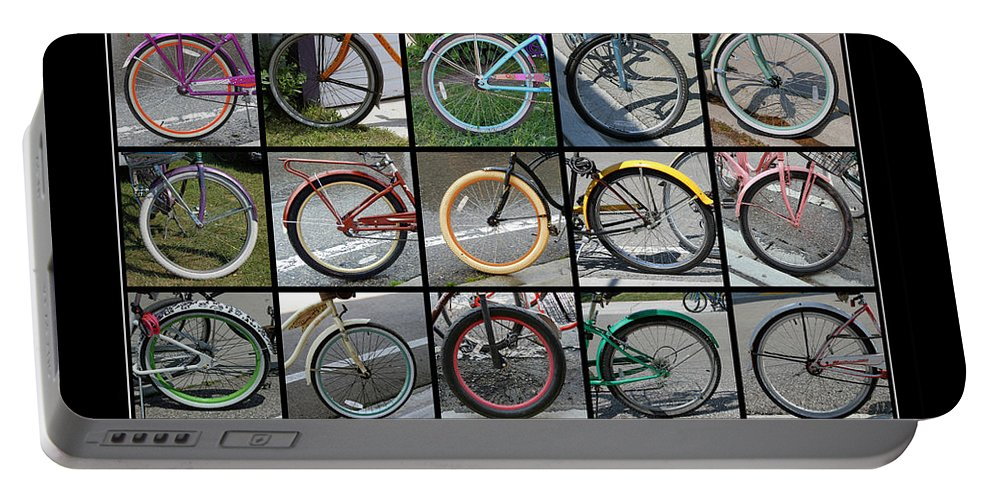 Bicycles Portable Battery Charger featuring the photograph Bicycles by Jackson Pearson