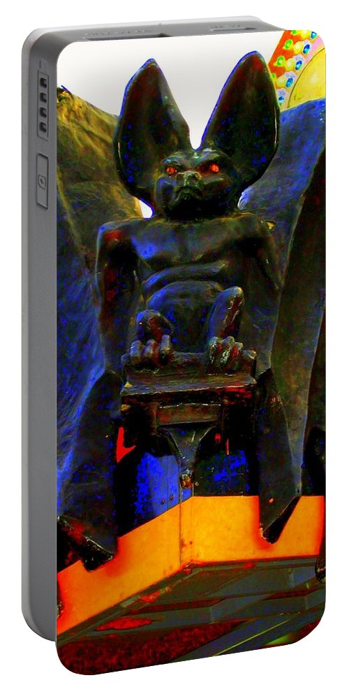 Portable Battery Charger featuring the photograph Big Bad Bat by Laurette Escobar