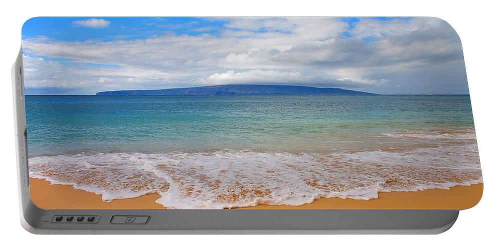 Beach Portable Battery Charger featuring the photograph Big Beach Maui by Charles Owens