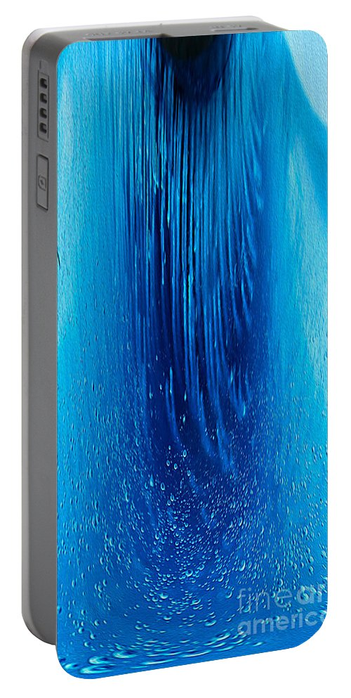 Frozen Portable Battery Charger featuring the photograph Big Blue by Nina Silver