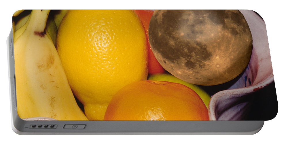 Montages Portable Battery Charger featuring the photograph Big Bowl Of Fruit by Greg Wells
