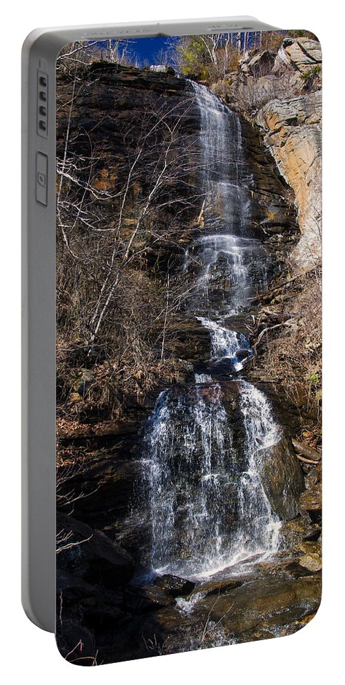 Waterfall Portable Battery Charger featuring the photograph Big Bradley Falls 1 by Chris Flees