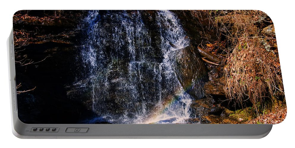 Waterfall Portable Battery Charger featuring the photograph Big Bradley Falls 5 by Chris Flees