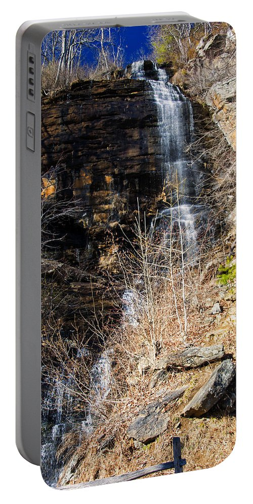 Waterfall Portable Battery Charger featuring the photograph Big Bradley Falls 6 by Chris Flees