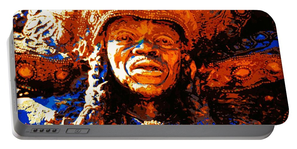 New Orleans Portable Battery Charger featuring the photograph Big Chief Tootie by Cathy Smith