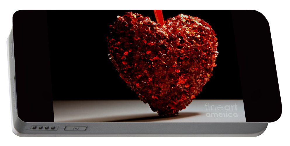 Romantic Portable Battery Charger featuring the photograph Big Heart by Robin Lynne Schwind