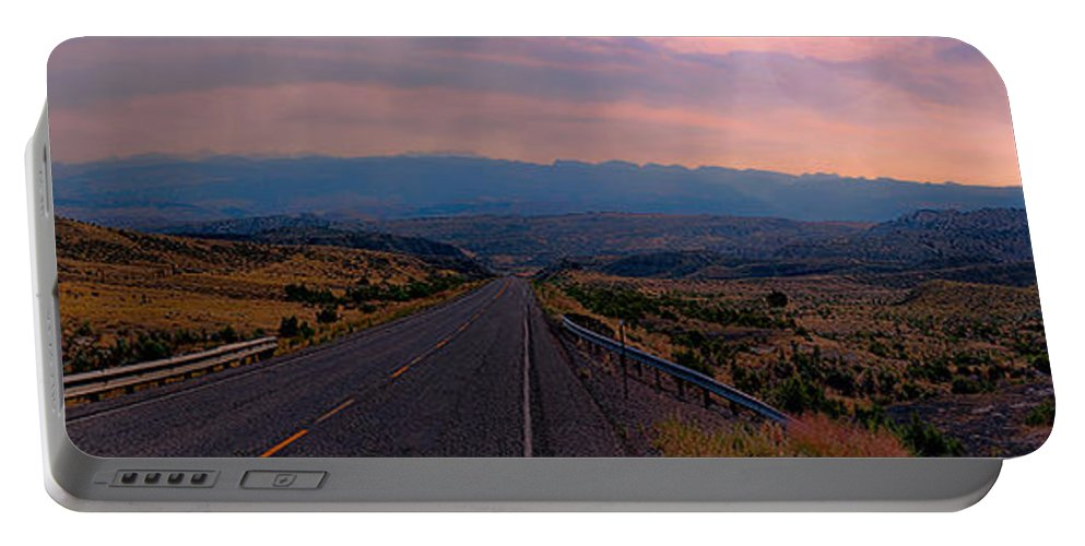 Panorama Portable Battery Charger featuring the photograph Big Horns Panorama by Cathy Anderson