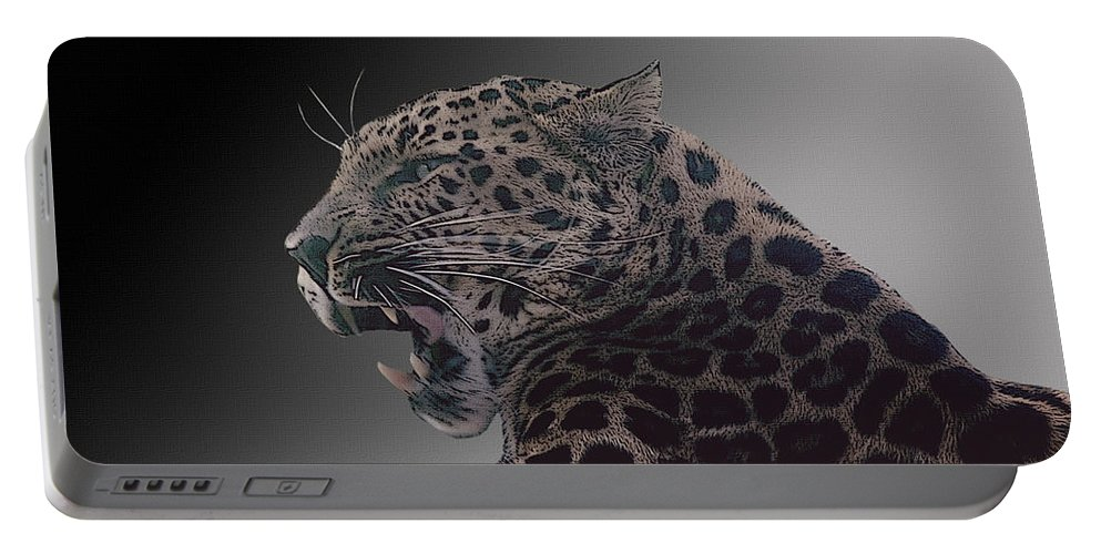 Leopard Portable Battery Charger featuring the photograph Big Kitty Kitty by Cindy Angiel
