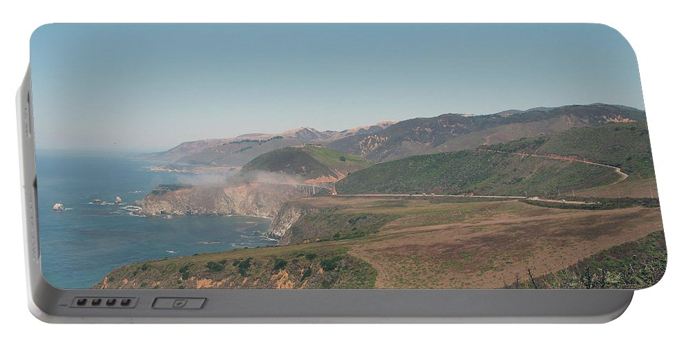Big Sur Portable Battery Charger featuring the photograph Big Sur Coastline by Christiane Schulze Art And Photography