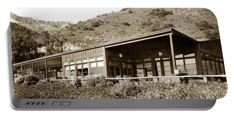 Big Sur Portable Battery Charger featuring the photograph Big Sur Hot Springs Now The Esalen Institute California Circa 1961 by California Views Archives Mr Pat Hathaway Archives