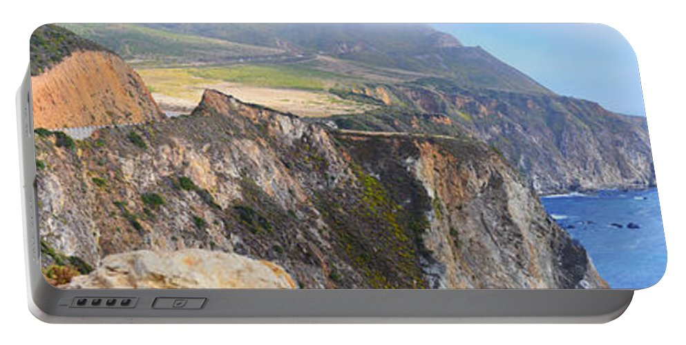 Big Sur Portable Battery Charger featuring the photograph Big Sur Panorama by Rincon Road Photography By Ben Petersen