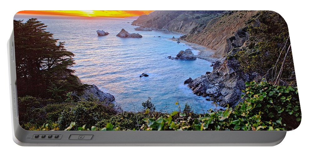 California Portable Battery Charger featuring the photograph Big Sur Sunset by Randy Matthews