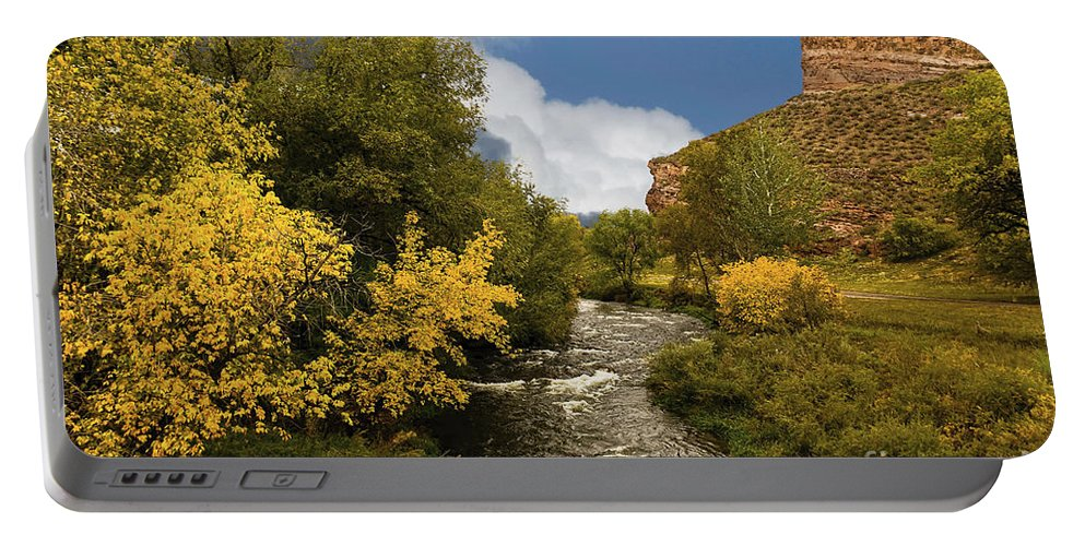 Big Thompson River Portable Battery Charger featuring the photograph Big Thompson River 2 by Jon Burch Photography