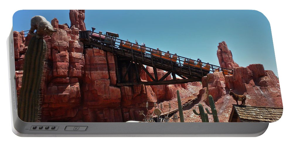 Thunder Mountain Portable Battery Charger featuring the photograph Big Thunder Mountain Walt Disney World by Thomas Woolworth