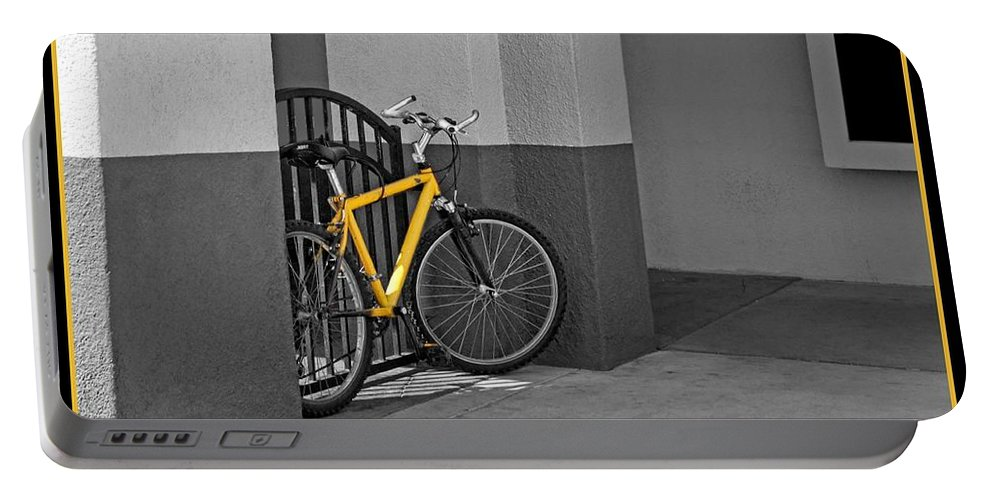 Bicycle Portable Battery Charger featuring the photograph Bike With Frame by Nikolyn McDonald