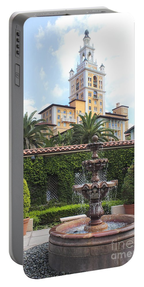 Biltmore Hotel Portable Battery Charger featuring the photograph Biltmore Hotel 02 by Carlos Diaz