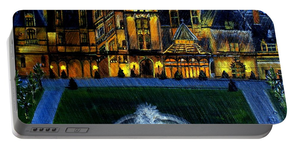 Biltmore House Portable Battery Charger featuring the painting Biltmore House by Ashley Galloway