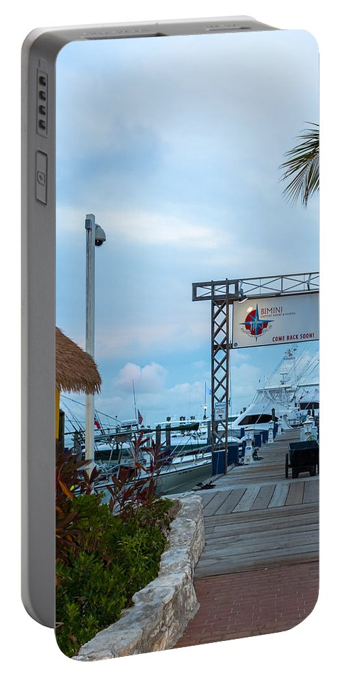 Alice Portable Battery Charger featuring the photograph Bimini Guy Harvey Outpost by Ed Gleichman