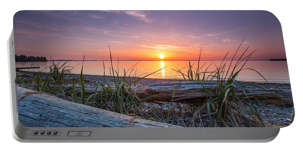 Shore Portable Battery Charger featuring the photograph Birch Bay Sunset by Eti Reid