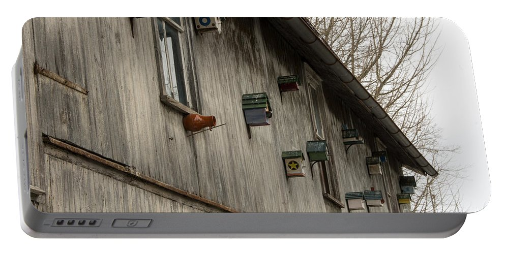 Bird Houses Portable Battery Charger featuring the photograph Bird Houses by Jay Ressler
