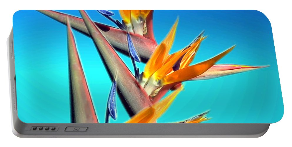 Floral Portable Battery Charger featuring the photograph Bird Of Paradise 2013 by Joyce Dickens