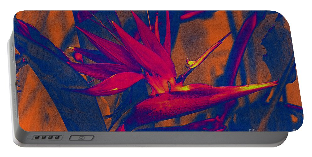 Bird Of Paradise Portable Battery Charger featuring the photograph Bird Of Paradise Flower by Susanne Van Hulst