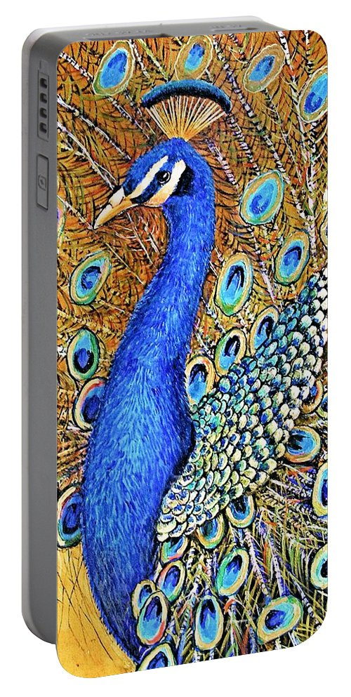 Jaxine Cummins Portable Battery Charger featuring the painting Bird Of Paradise by JAXINE Cummins